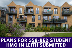 Plans for 558-bed Student HMO in Leith Submitted